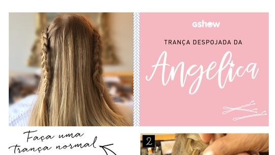 Angélica explica como fazer trança despojada; aprenda com passo a passo!