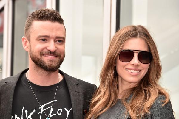 O músico Justin Timberlake com a esposa, a atriz Jessica Biel (Foto: Getty Images)