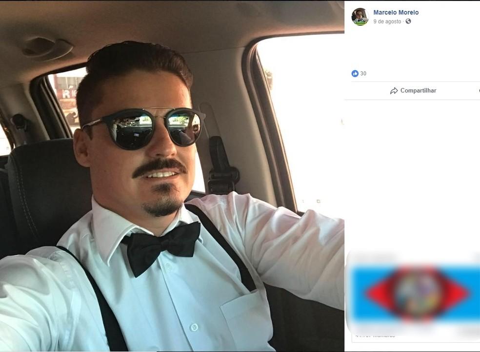 Marcelo Felipe Morelo foi preso com arma no bolso — Foto: Facebook/Reprodução