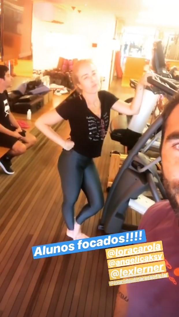 Angélica, Ingrid Guimarães e Carolina Dieckmann treinam juntas (Foto: Reprodução/Instagram)