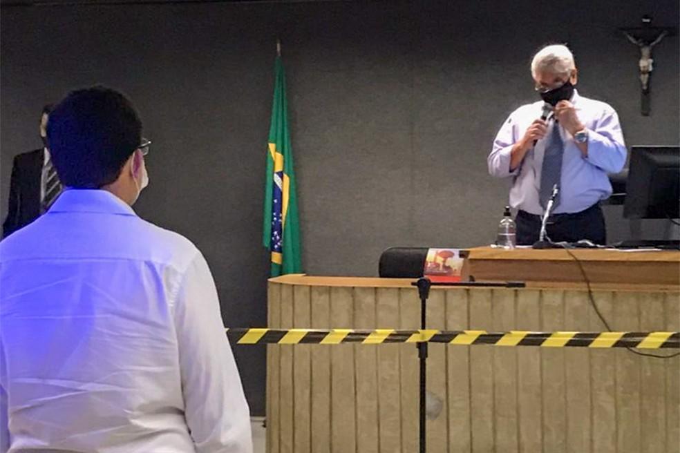 Réus foram absolvidos pelo Tribunal do Júri — Foto: Marcelo Almeida/ TJMG/ Divulgação