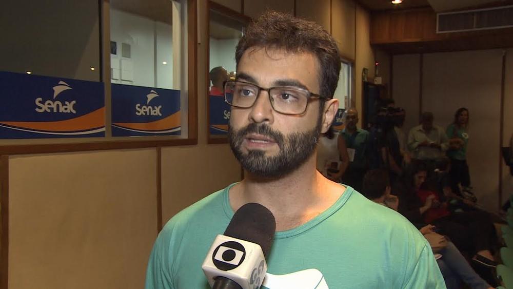 Vinícius Miguel é anunciado como candidato ao governo de RO, pela REDE. (Foto:  Reprodução/Rede Amazônica)