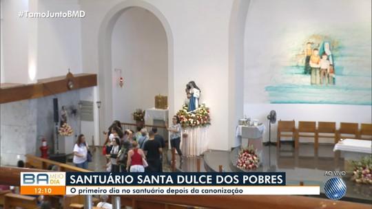 Após canonização de Irmã Dulce, santuário da Santa recebe devotos e turistas nesta segunda