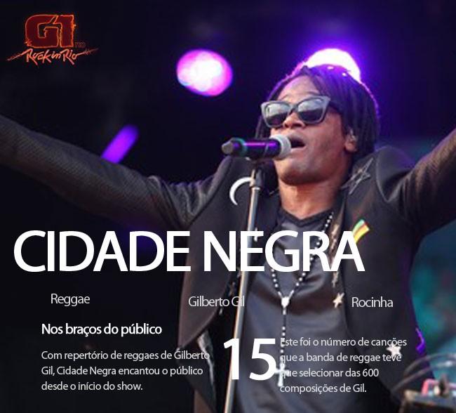 Cidade Negra faz homenagem a Gilberto Gil no Palco Sunset