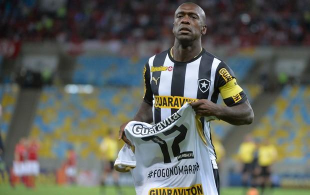 Seedorf ação de marketing, Botafogo x Internacional (Foto: Vitor Silva/SSPress)