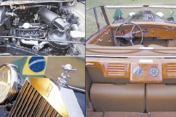 Detalhes do Rolls-Royce da presidência (Foto: Marco Antônio Teixeira/O Globo)