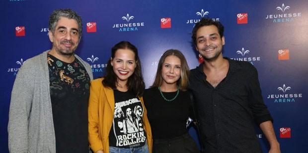 Michel Melamed, Letícia Colina, Louise D'Tuani e Eduardo Sterblitch  (Foto: Brazil News / Marcos Ferreira)