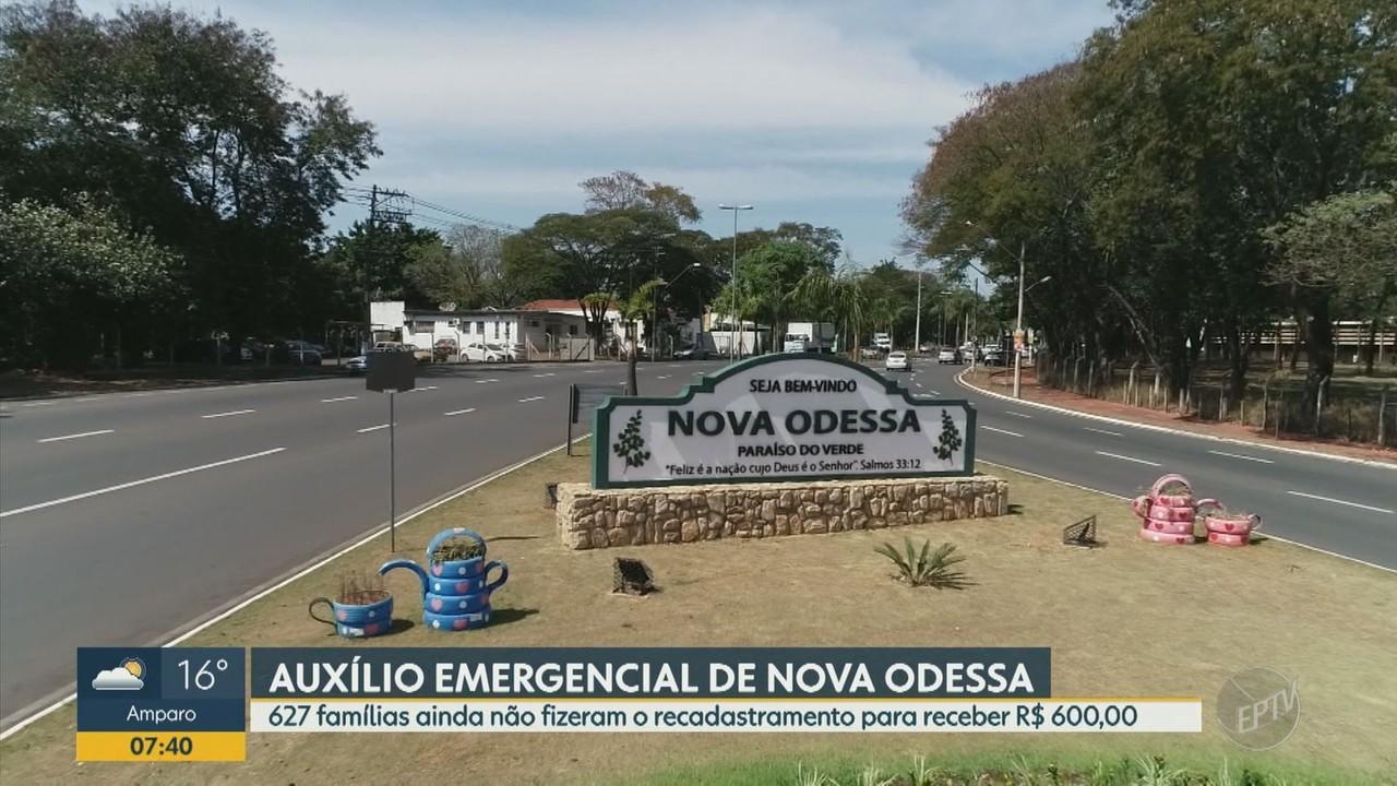 Nova Odessa tem auxílio emergencial municipal de R$ 600; veja como revalidar o cadastro