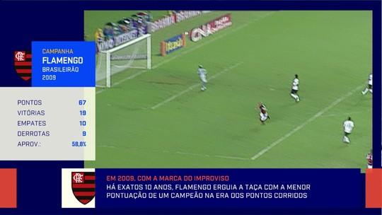 """Redação recorda 10 anos do título brasileiro do Flamengo: """"O título do improviso"""""""