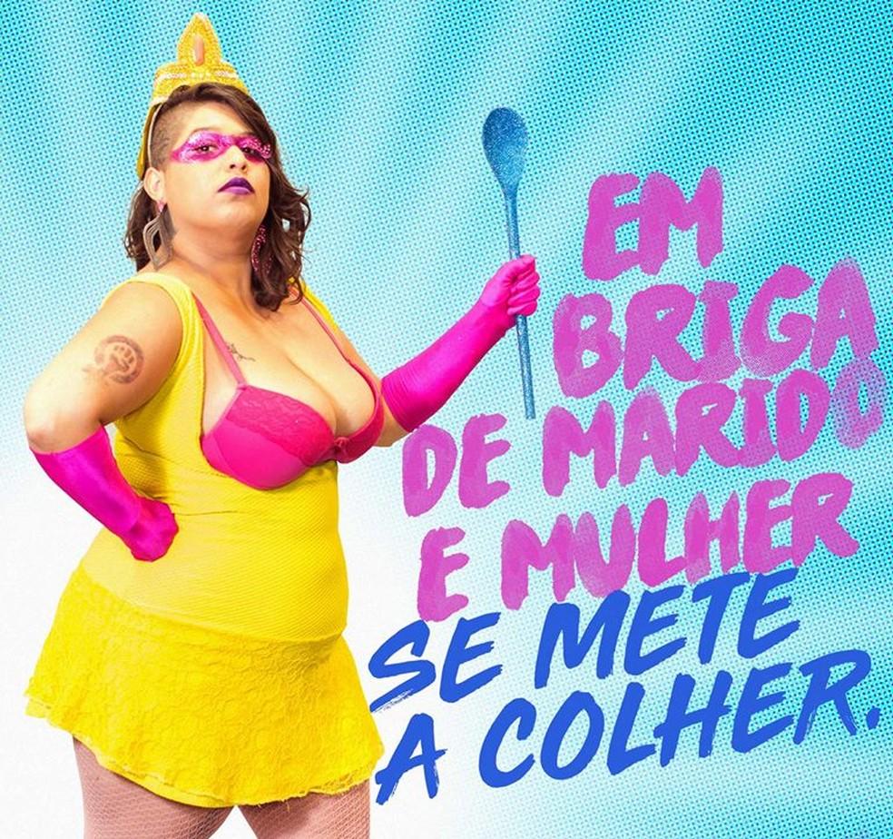 Campanha 'Folia com respeito' do Coletivo dos Blocos de Rua de Brasília contra violência e preconceitos no carnaval — Foto: Folia Com Respeito/Divulgação
