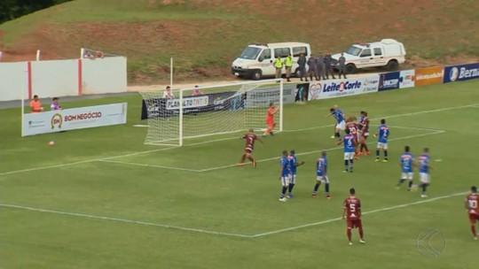 Zagueiro e volante detalham jogada ensaiada em gol da vitória do Patrocinense sobre a URT