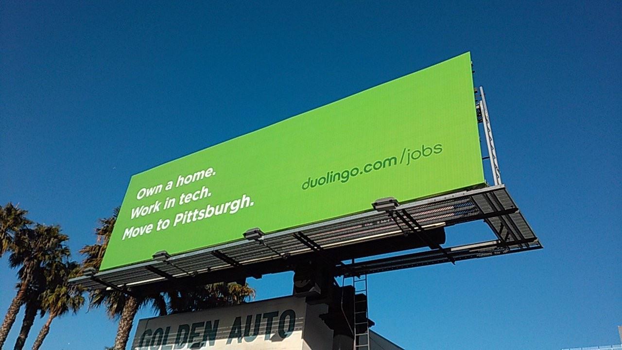 Outdoor Duolingo Pittsburg (Foto: Divulgação)
