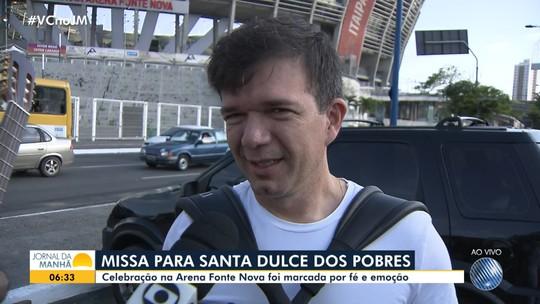 Waldonys e compositor da música de Santa Dulce falam sobre missa na Arena Fonte Nova
