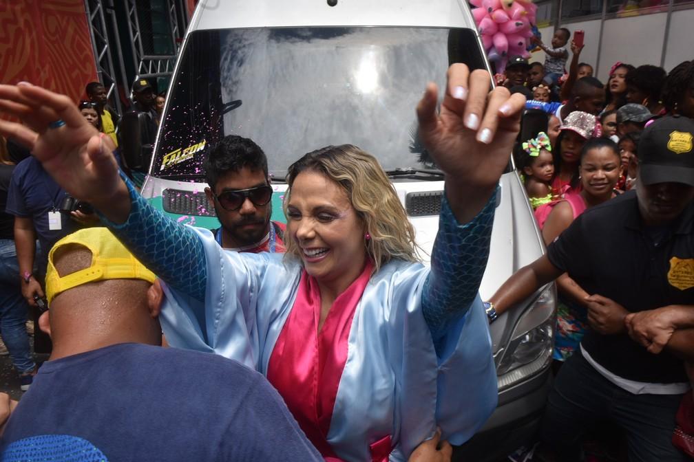 Carla Perez chegou ao circuito Osmar — Foto: Max Haack /Ag Haack