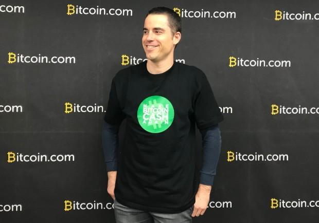 Roger Ver, fundador e CEO da plataforma bitcoin.com (Foto: Mariana Iwakura)