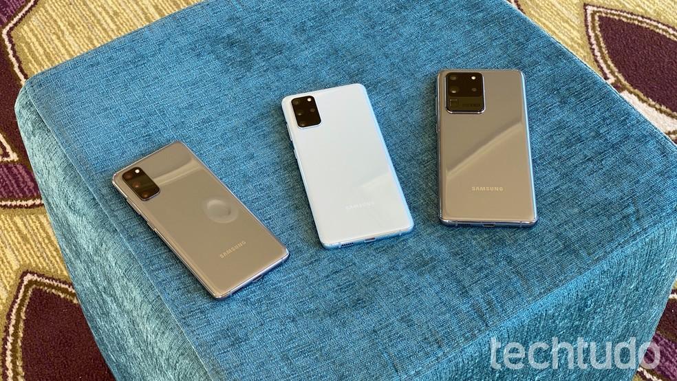 Linha S20: Samsung renova módulo de câmera traseira — Foto: Thássius Veloso/TechTudo