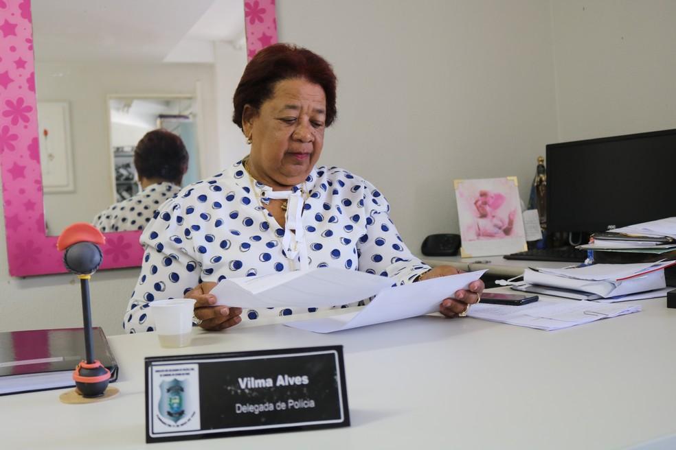 Delegada Vilma Alves — Foto: Lucas Marreiros/G1