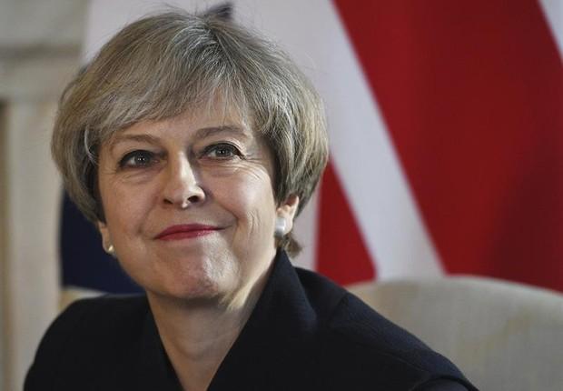 A primeira-ministra do Reino Unido, Theresa May (Foto: Facundo Arrizabalaga/EFE)