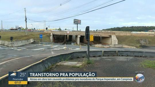 Moradores do Parque Imperador, em Campinas, esperam liberação de túnel há 2 anos; Rota diz que obra fica pronta em 2019