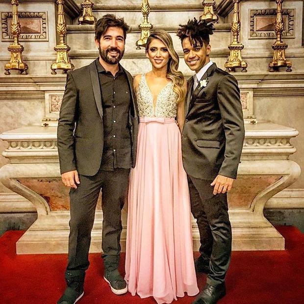 Sandro Pedroso, Nadja Pessoa e Vinicius D'Black (Foto: Reprodução/Instagram)