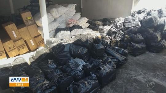 Polícia apreende mais de 8 mil pares de sapatos falsificados em Santa Rita do Sapucaí