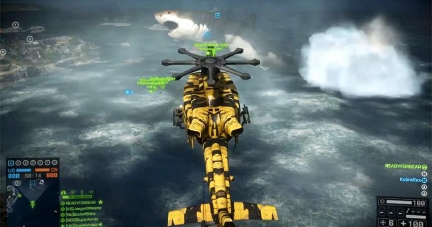 Battlefield 4: jogadores encontram tubarão gigante Megalodon em novo DLC