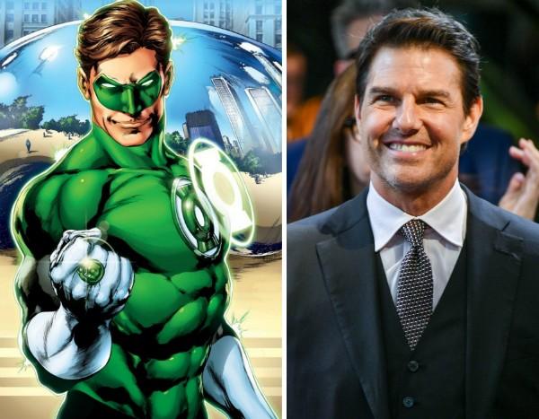 O herói Lanterna Verde e o ator Tom Cruise (Foto: Reprodução/Getty Images)