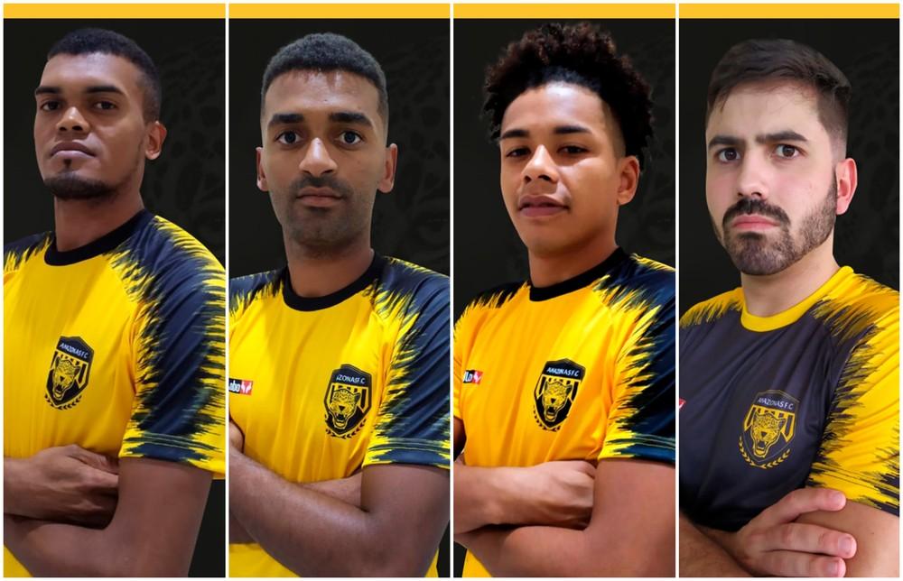 Na sequência: Pelezinho, Paulinho, Otávio e Iago (Foto: Divulgação)