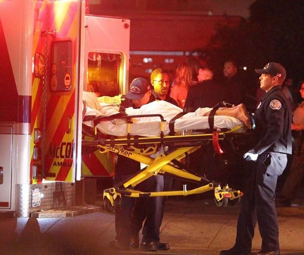 Tammy Hembrow deixa festa de Kylie Jenner de ambulância (Foto: BackGrid)