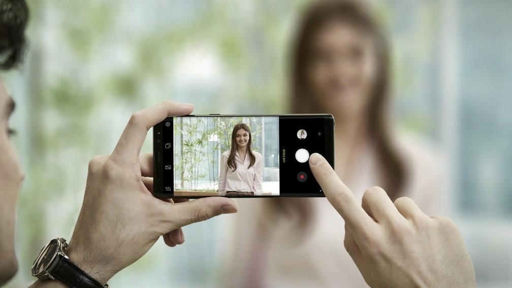 Câmera traseira do Galaxy Note 8 tem duas lentes para fotos melhores (Foto: Divulgação)