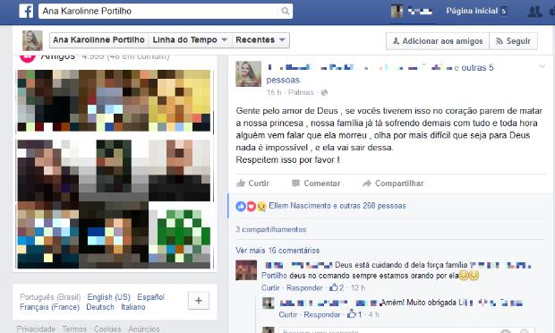 Irmã de estudante atropelada publica mensagem em redes sociais e faz desabafo (Foto: Reprodução/TV Anhanguera)