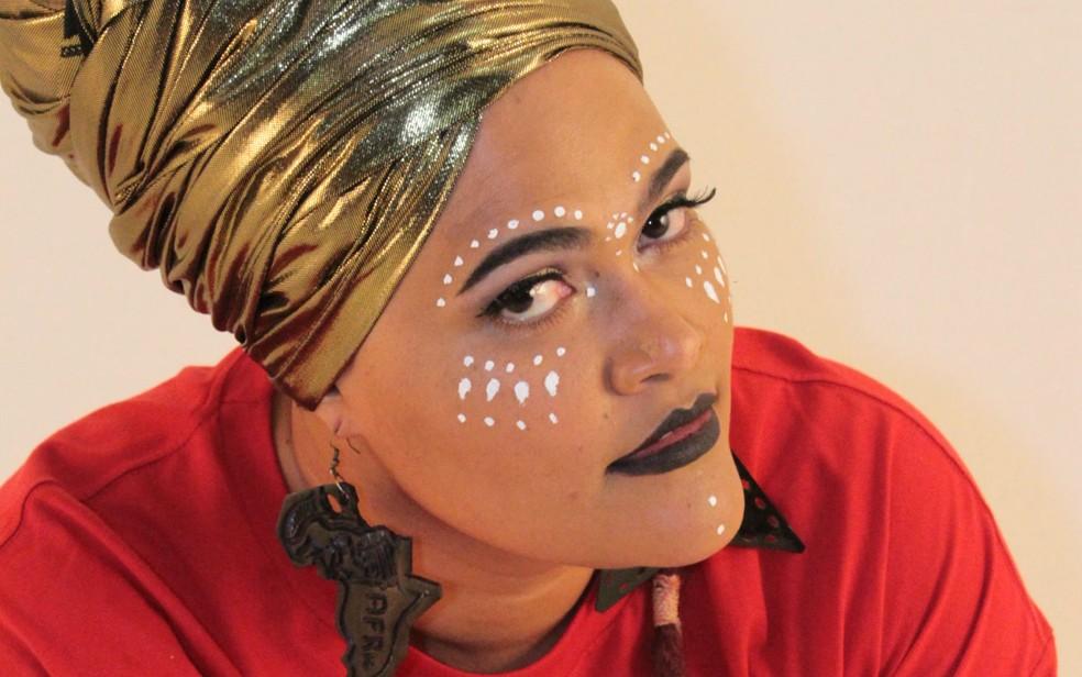 A rapper Vera Verônika, de Brasília, faz oficina de empoderamento feminino no festival Conexões Urbanas — Foto: Vera Verônika/Divulgação