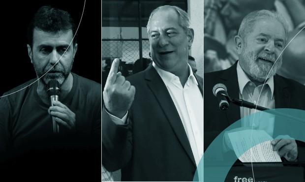 Marcelo Freixo, Ciro Gomes e Lula: petista se fortalece com críticas a deputado do PSOL e pedetista