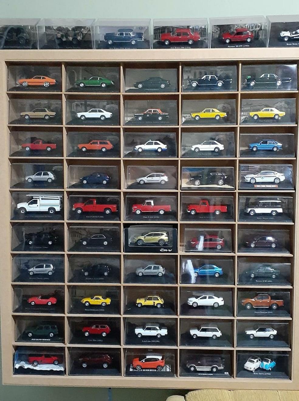 Grupo de colecionadores realizam exposição de carrinhos em miniatura — Foto: Divulgação/Mini Garagem MT