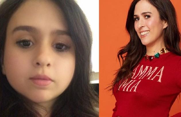 Tatá Werneck publicou uma foto com rosto infantil no Instagram e escreveu na legenda: 'Prefiro' (Foto: Reprodução e Jorge Bispo)