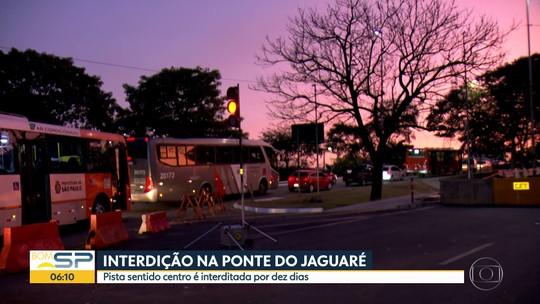 Nova interdição na Ponte do Jaguaré