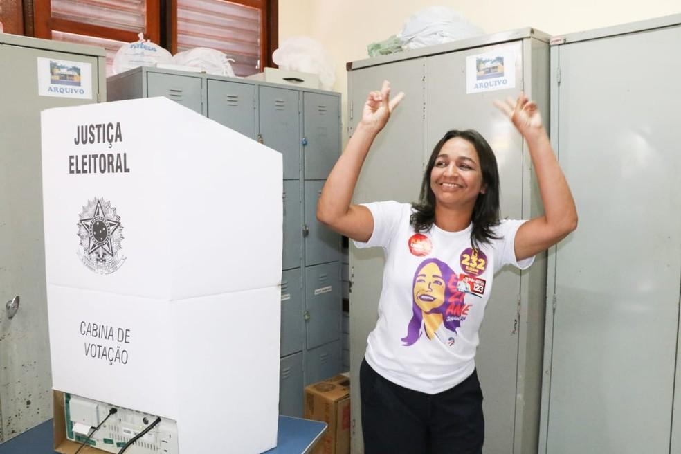 Eliziane Gama foi eleita com mais de 1 mihão de votos no estado — Foto: Divulgação/Biamã Prado