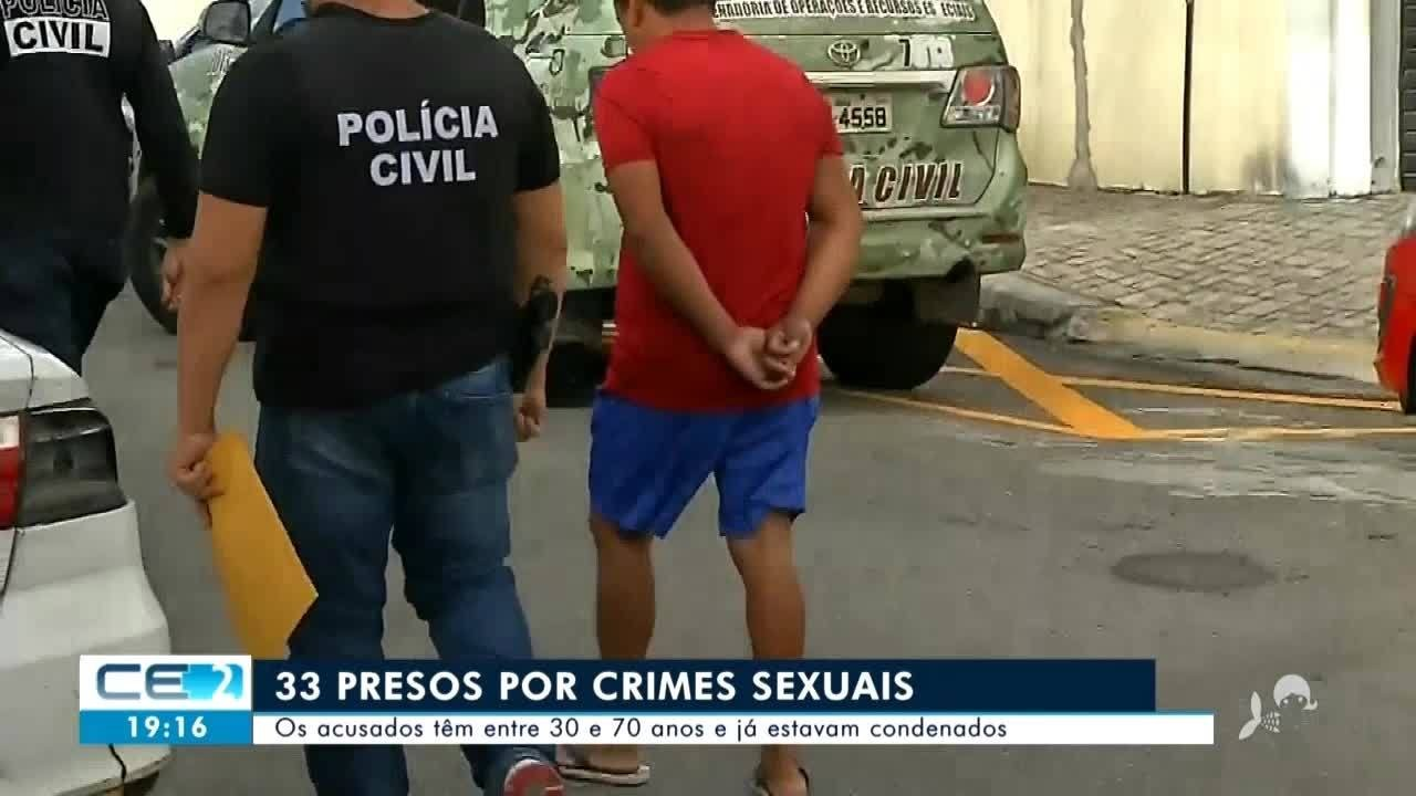 33 pessoas presas por crimes sexuais no Ceará