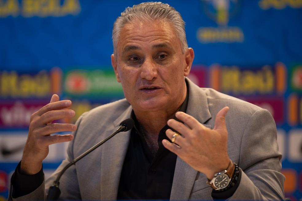 Tite na convocação da seleção brasileira  — Foto: Pedro Martins / MowaPress