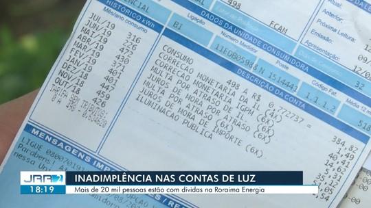 Mais de 20 mil pessoas devem conta de energia em Roraima
