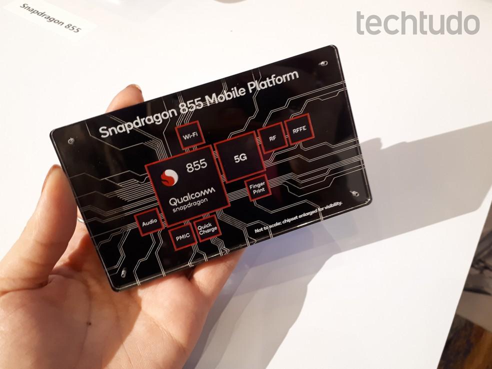 Processadores como o Snapdragon 855 usam design ARM e núcleos inspirados na linha Cortex — Foto: Aline Batista/TechTudo