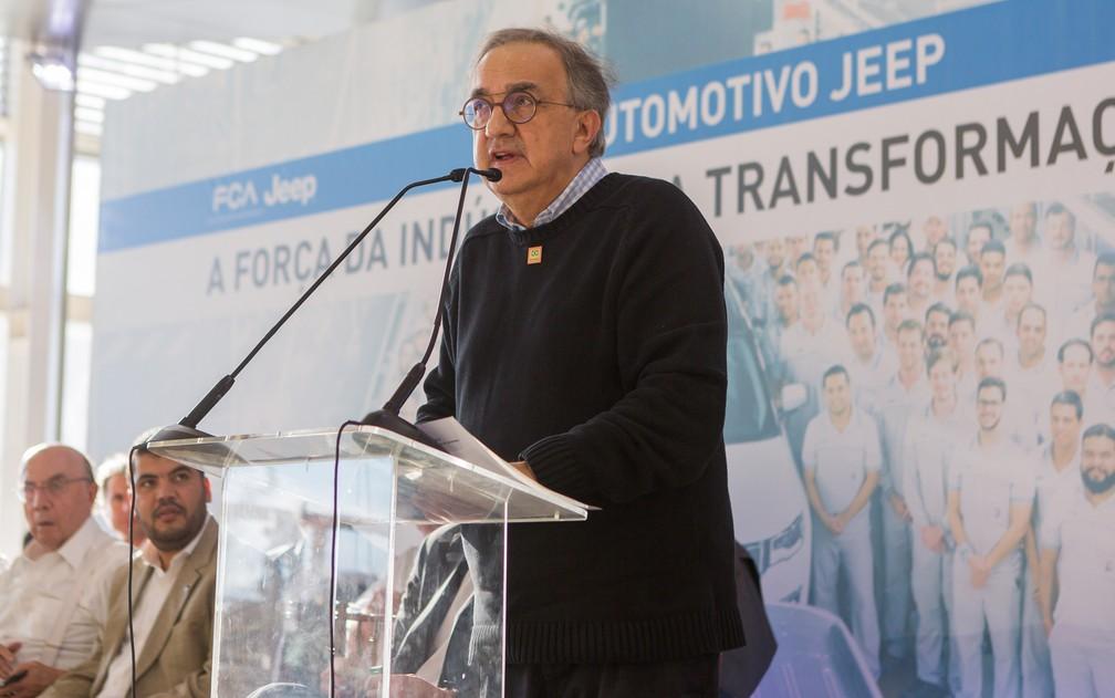 Sergio Marchionne inaugurou o 3º turno na fábrica de Pernambuco neste ano (Foto: Divulgação/Fiatpress)