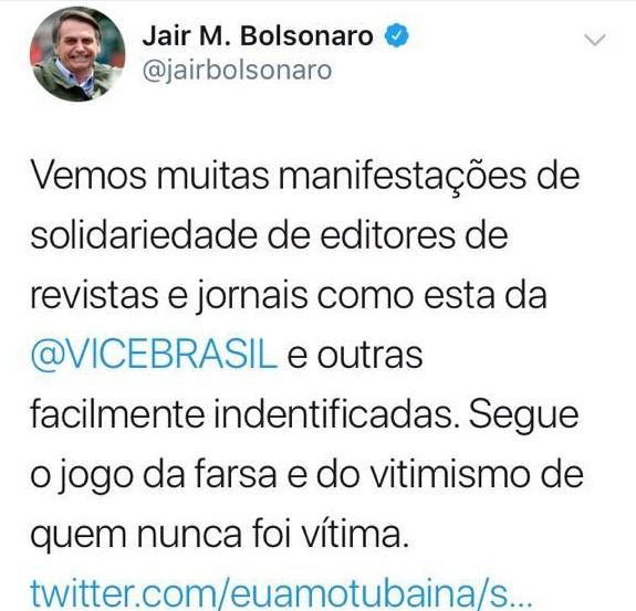 Print twitter Bolsonaro