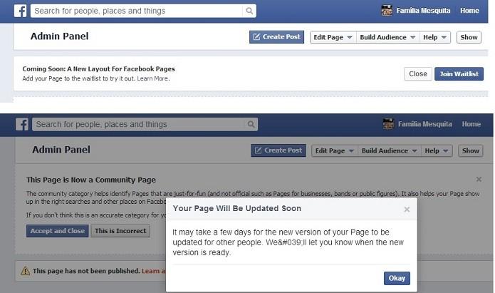 Convite é recebido pelos administradores de páginas (Reprodução/Taysa Coelho)