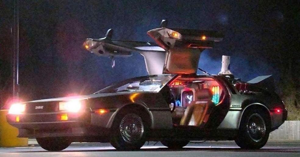 """Delorean — Foto: Cena do filme """"De  volta para o futuro"""""""