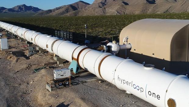 Túnel do Hyperloop One (Foto: Divulgação)