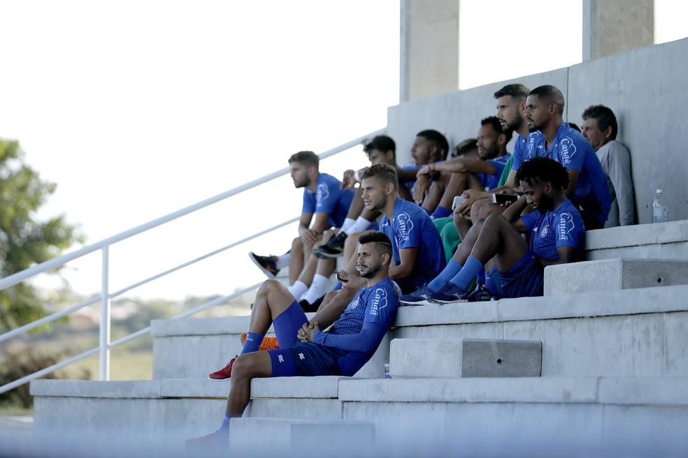 Dos 26 jogadores do time de transição do Bahia, 22 entraram em campo no Baiano — Foto: Felipe Oliveira / EC Bahia / Divulgação