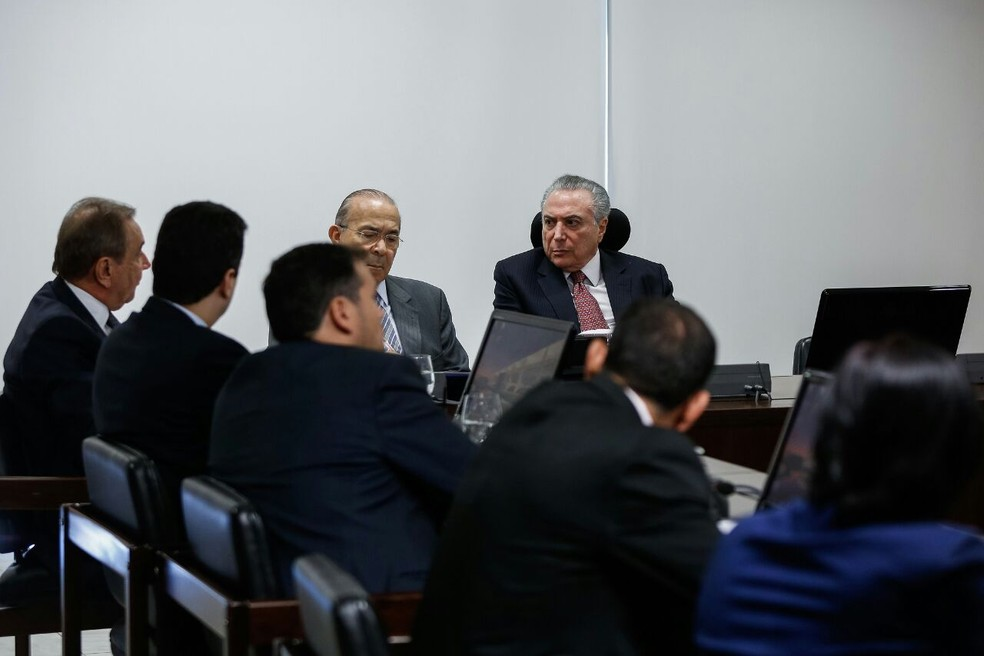 Reunião entre a bancada potiguar e o presidente aconteceu nesta quinta-feira (17) (Foto: Marcos Correa)