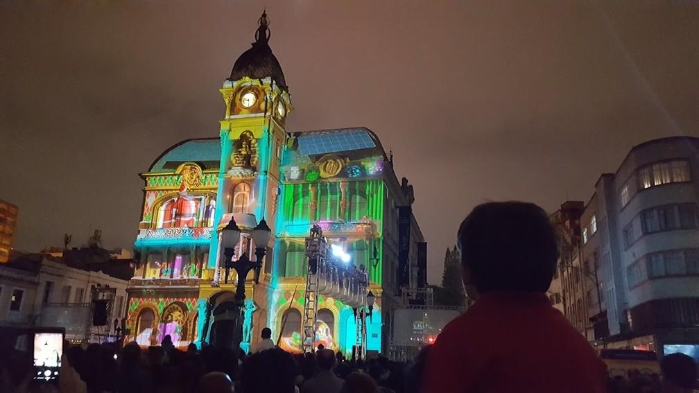 Natal do Paço, em Curitiba — Foto: Natalia Filippin/G1