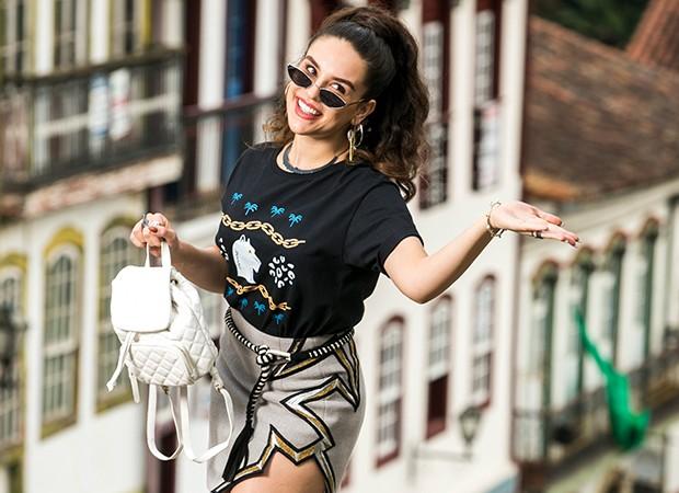 Kéfera Buchmann interpreta a atriz Mariane em Espelho da Vida (Foto: Globo/João Miguel Júnior)